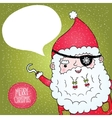 Santa claus pirate poster vector