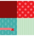 Set of 4 christmas and new year seamless patterns vector
