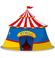 A colorful circus tent vector