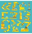 Robotic arm flat vector