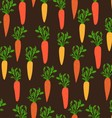 Seamless pattern with young carrot vector