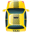 A topview of a yellow taxi cab vector