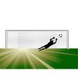 Goalkeeper vector