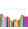 Back to school color pencils background vector