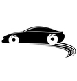 Fast moving car with tire shapes vector