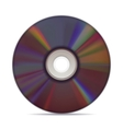 Realistic compact disc on white background vector
