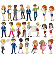 A group of business-minded people vector