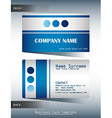 A blue and grey calling card vector