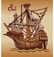 Spanish sail ship vector