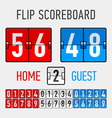 Flip scoreboard vector