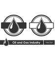 Oil symbols corporate emblem vector