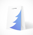 Festive paper bag with fir-tree for your business vector