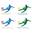 Football and soccer player vector