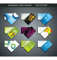Various business card set vector