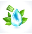 Ecology symbol water drop vector