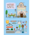 Cafe house vector