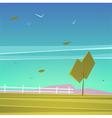 Cartoon landscape vector