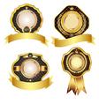 Set of golden design elements vector