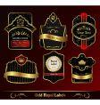 Decorative dark gold frames labels vector