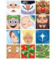 Christmas avatars vector