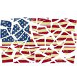 Broken-down american flag vector