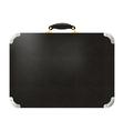 Old black leather travel bag vector