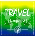 Summer travel background with world map and vector