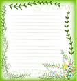 Grass with flowers set vector