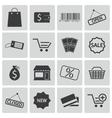 Black shop icons set vector