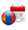 Icon of national day in mongolia vector