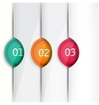Set of colorful bookmarks stickers marks tags vector