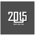 Creative happy new year 2015 text design vector