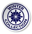 Winter collection sticker vector