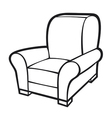 Armchair - leather tub chair vector