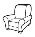 Armchair - leather tub chair vector