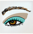 Female eye sketch vector