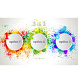 Graphic design button and labels template vector