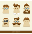 Men character icons vector