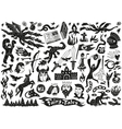 Fairy tales - doodles vector