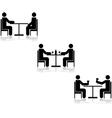 Table meetings vector