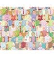 Colorful many people throng tileable background vector