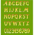 Gold font vector