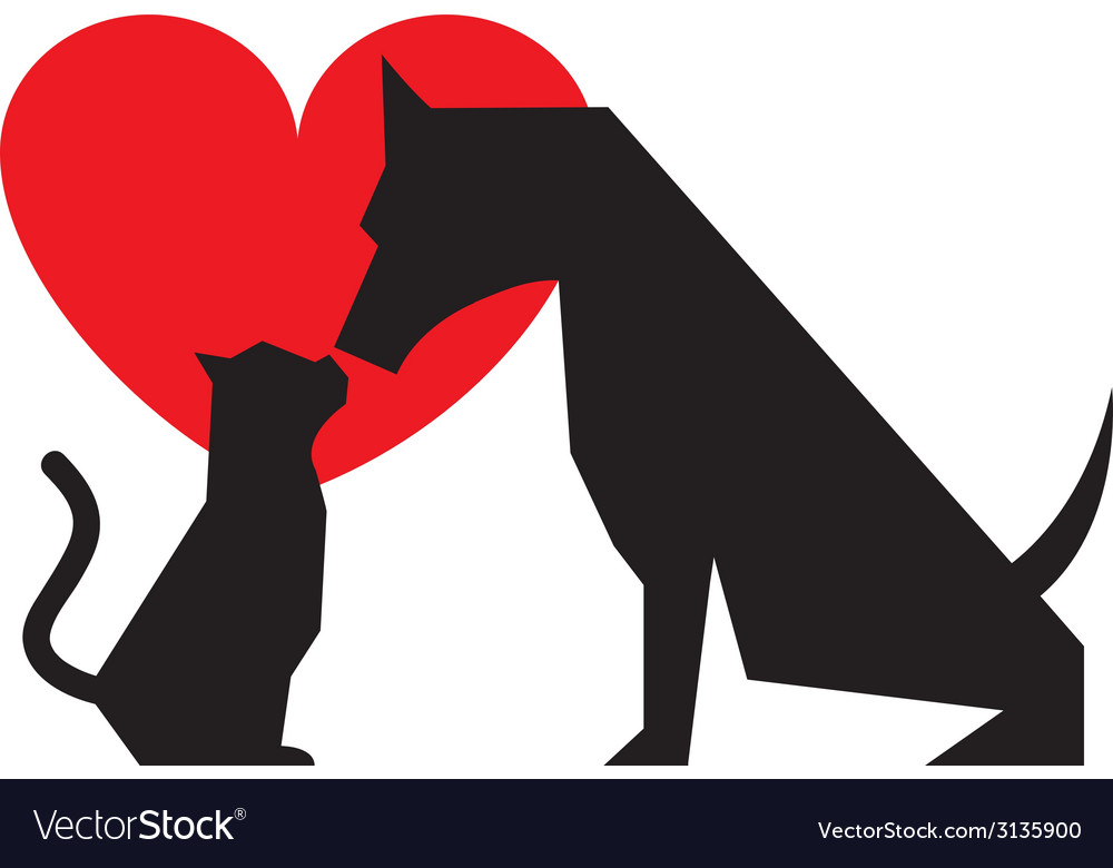 Cat and dog design vector | Price: 1 Credit (USD $1)