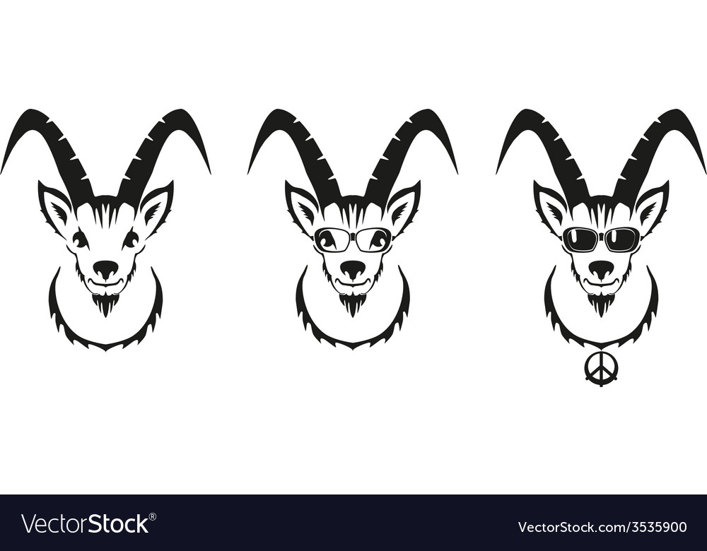 Chinese symbol goat image desi vector | Price: 1 Credit (USD $1)