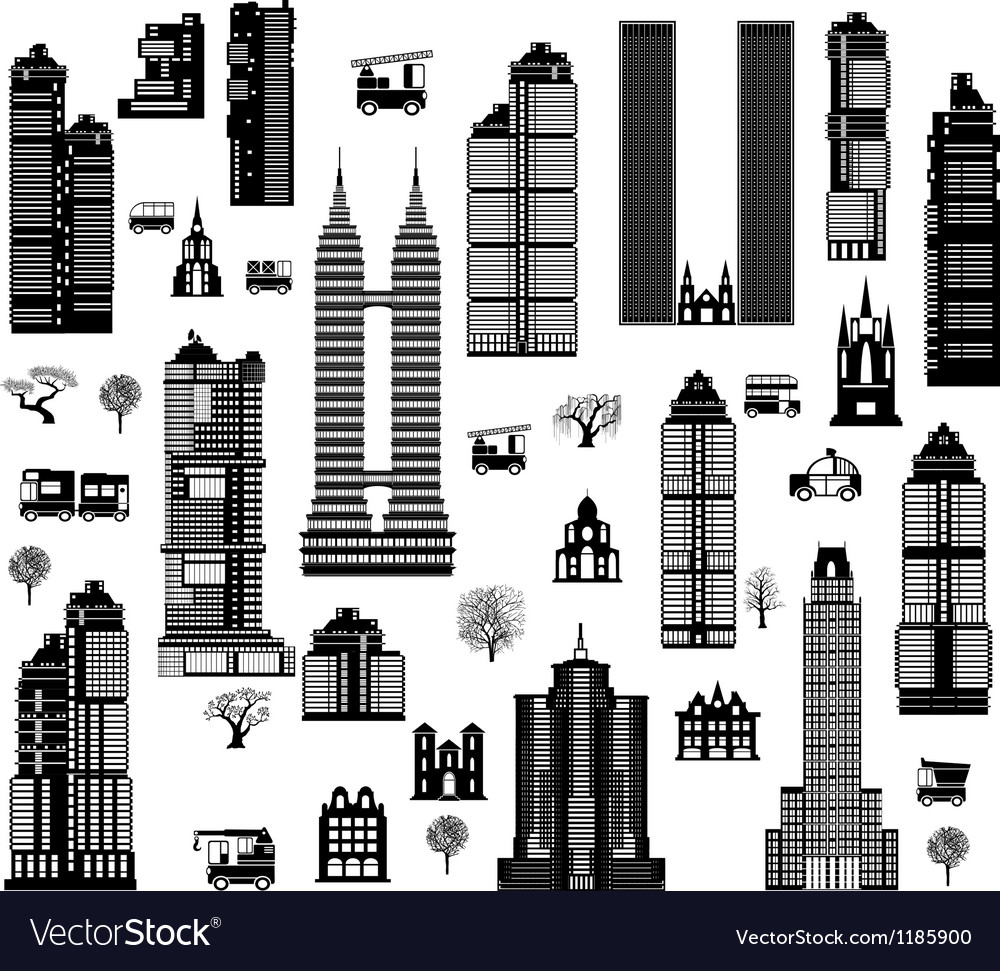 City mix vector | Price: 1 Credit (USD $1)