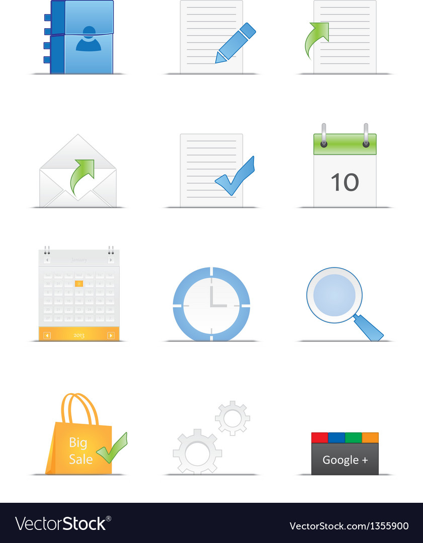 Clean designed web icons vector | Price: 1 Credit (USD $1)
