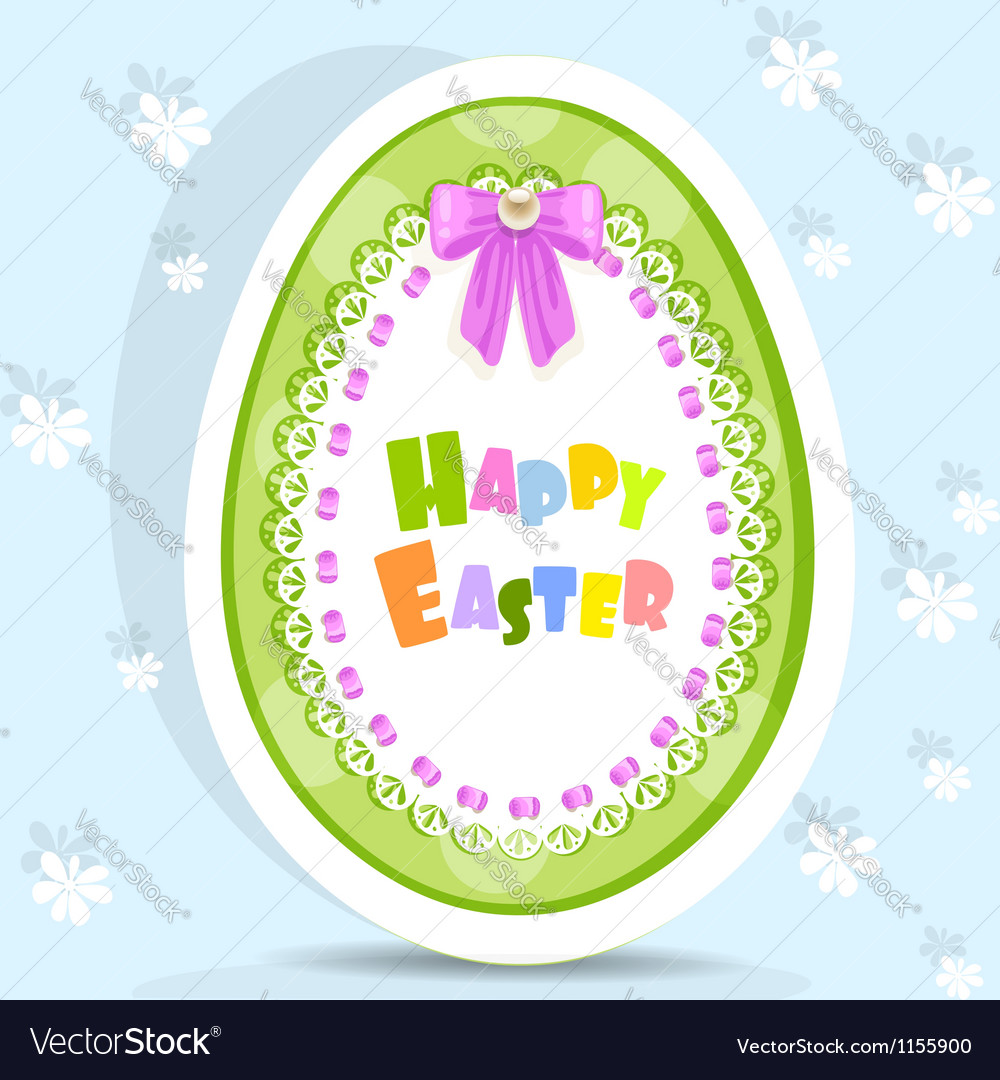 Easter egg-laced postcard vector | Price: 1 Credit (USD $1)