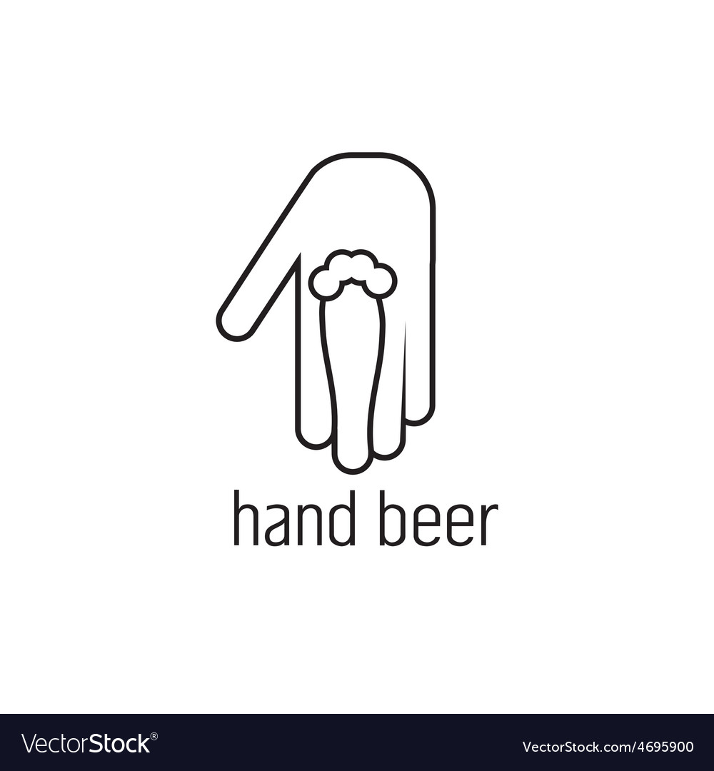 Hand beer concept design template vector | Price: 1 Credit (USD $1)