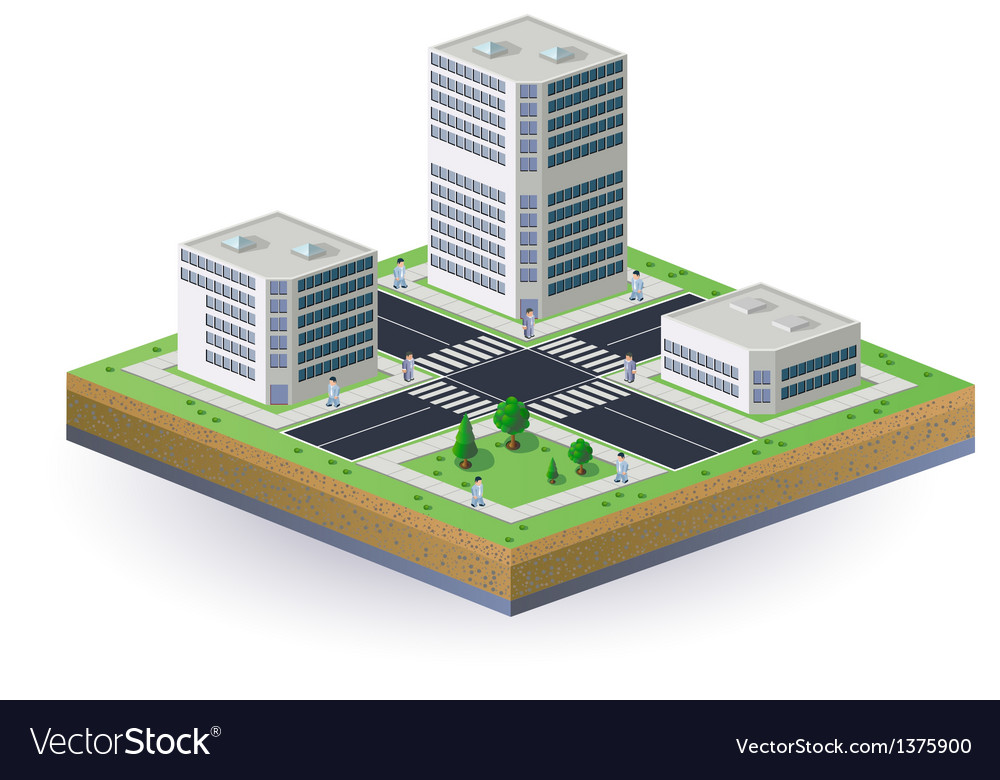Isometric image of the city vector | Price: 1 Credit (USD $1)