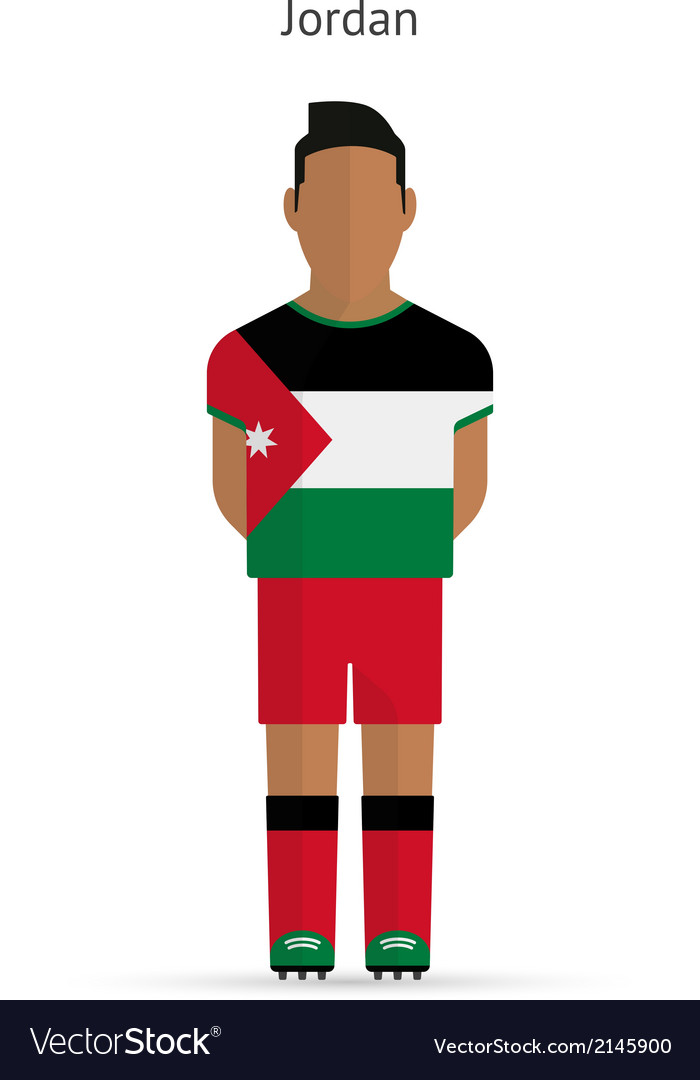 Jordan football player soccer uniform vector | Price: 1 Credit (USD $1)